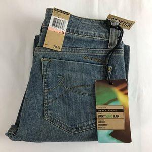 DKNY SOHO Womens Size 2 Long Blue Bootcut Jeans